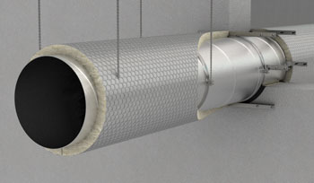 Fire insulated circular duct